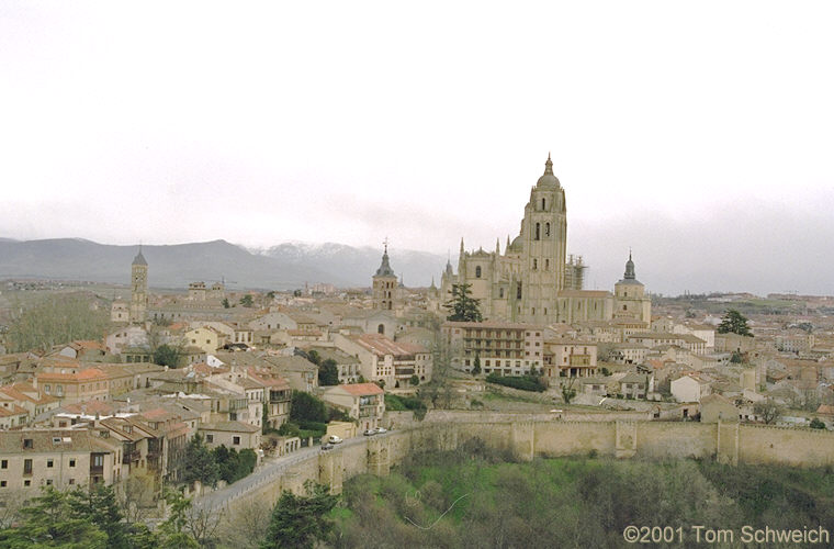 The town of Segovia as seen from the Alcazar.