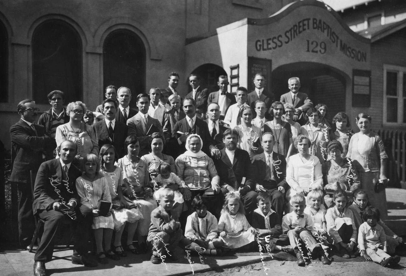 Gless Street Baptist Mission in 1927