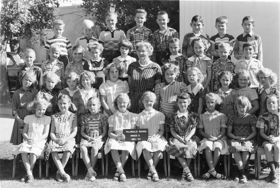 Palmdale School, Third Grade, 1952-3, Mrs. Connely