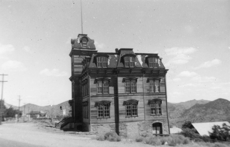 The old schoolhouse in Virginia City.