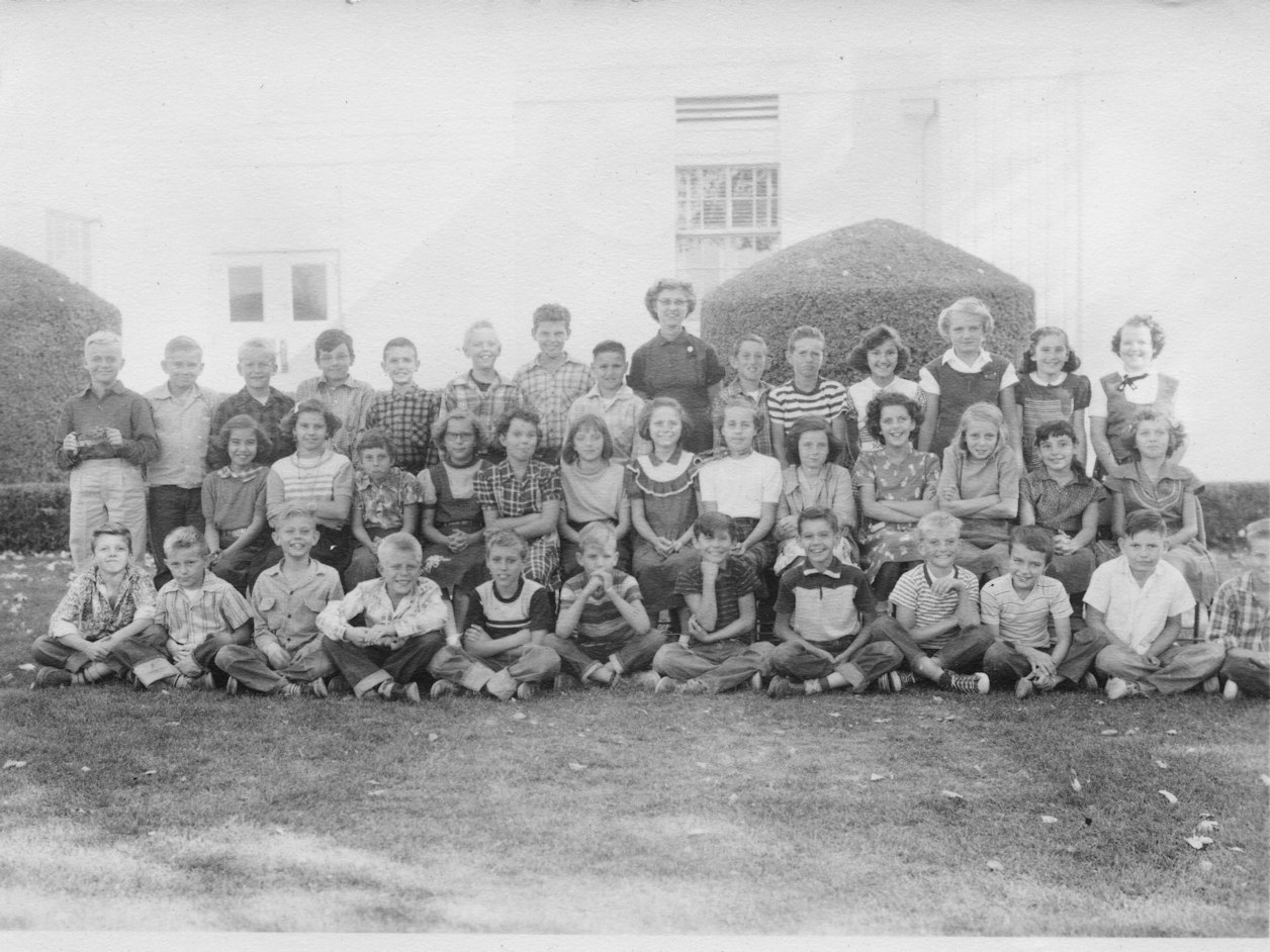 Palmdale School, Fifth Grade, 1954-5, Mrs. Salestrom