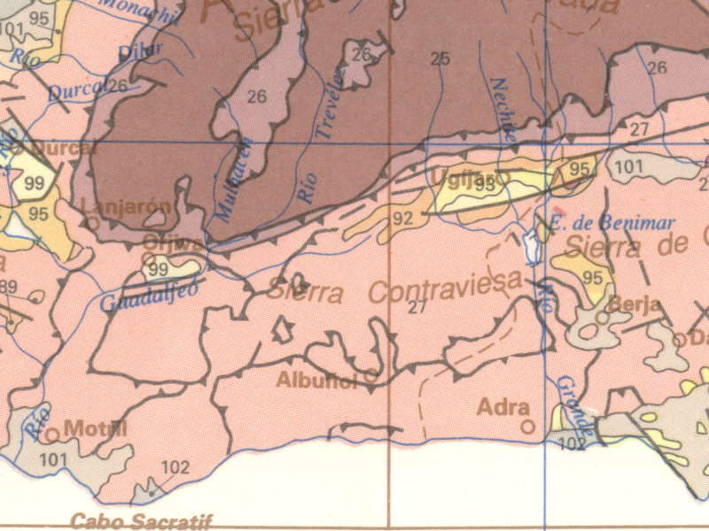 Geologic Map of the Alpujarra Region