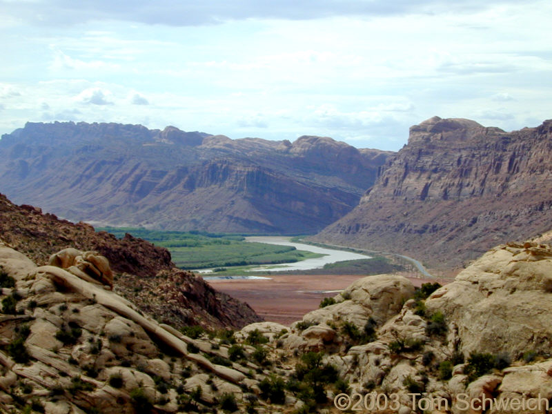 The Colorado River Exits Spanish Valley near Moab, Utah.