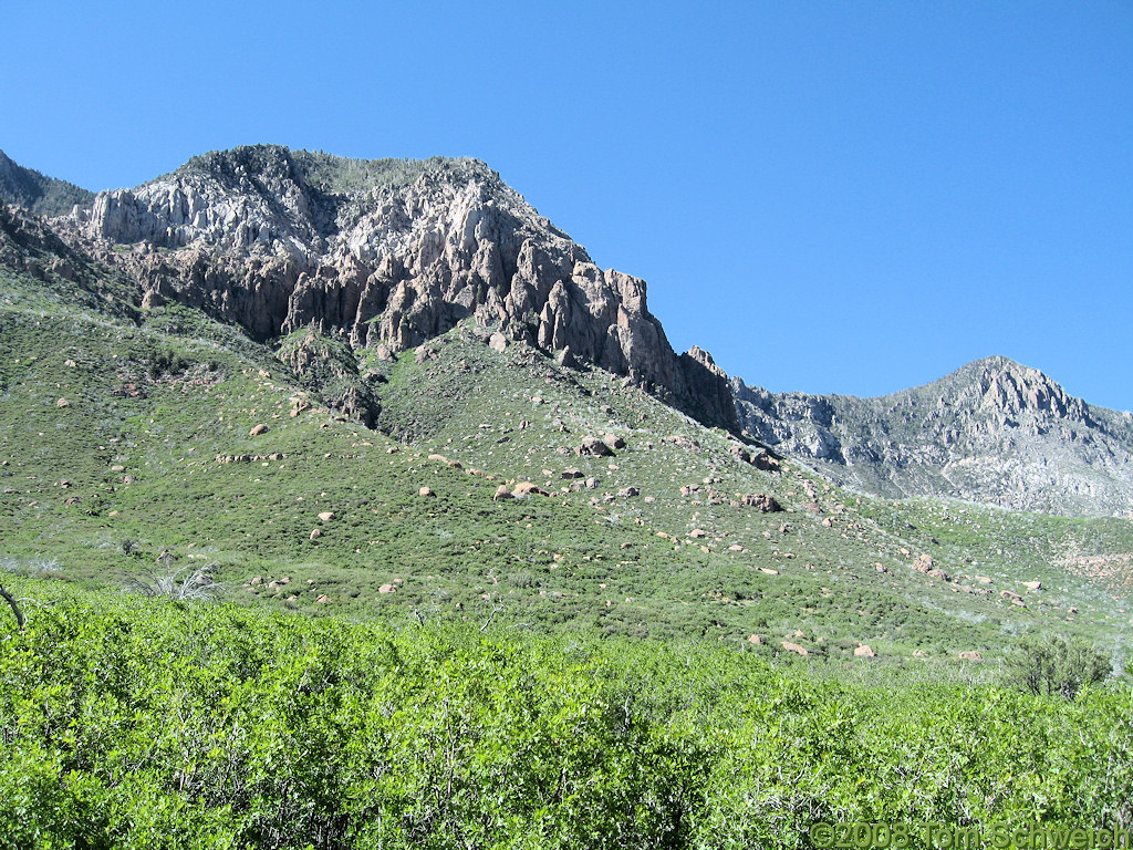 Photo: View toward top of Pine Valley Mountains