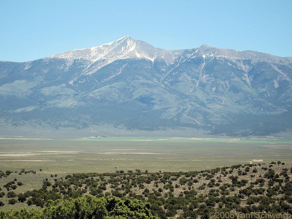 Photo: Wheeler Peak in the Snake Range across Spring ...