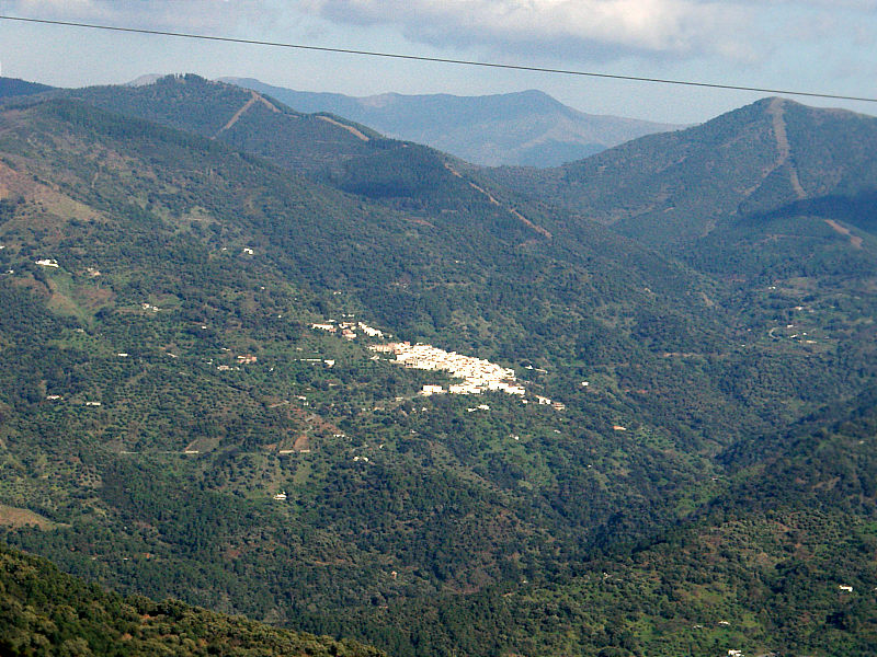 View of Jubrique from highway A-369 near Algatocin.