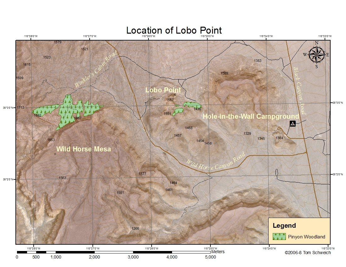 Location of Lobo Point.